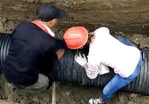 塑钢缠绕管在不具备条件的情况下怎么连接才不漏水
